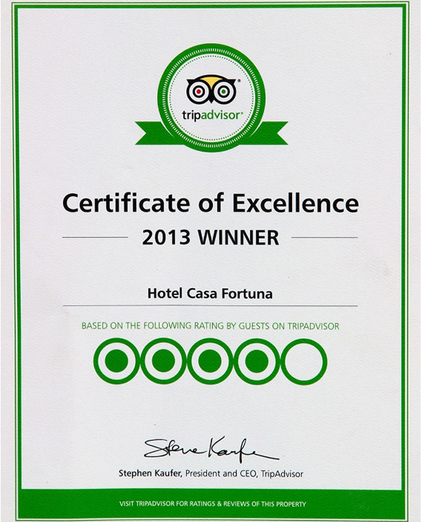 Casafortunahotel accolades image